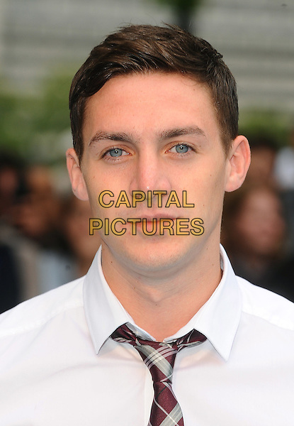 Kirk Norcross from The Only Way Is Essex .Horrible Bosses UK Premiere, BFI, London, England..20th July 2011.headshot portrait white shirt tie brown plaid tartan.CAP/BEL.©Tom Belcher/Capital Pictures.