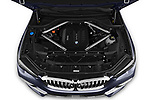 Car stock 2019 BMW X5 x Line 5 Door SUV engine high angle detail view