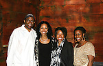 "All My Children's Jerome Preston Bates ""Derek Frye"" came to see Guiding Light's Kim Brockington ""Felicia Boudreau"" and the cast Long Time Since Yesterday pose after the reading on June 19, 2010 - part of the Great Black Plays & Playwrights Reading Series held at the Castillo Theatre, New York City, New York. (Photo by Sue Coflin/Max Photos)"