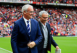 Leicester City manager Claudio Ranieri and Manchester United manager Jose Mourinho during the Premier League match at Old Trafford Stadium, Manchester. Picture date: September 24th, 2016. Pic Sportimage