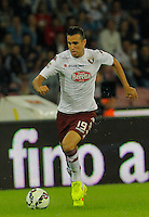 Nikola Maksimovic   in action during the Italian serie A   soccer match between SSC Napoli and Torino FC   at  the San Paolo   stadium in Naples  Italy , Octoberr 05 , 2014