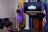 White House Press Secretary Kayleigh McEnany arrives to conduct a press briefing at the White House in Washington, DC on May 28, 2020.<br /> Credit: Yuri Gripas / Pool via CNP/AdMedia