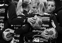 EHF Champions League Handball Damen / Frauen / Women - HC Leipzig HCL : SD Itxako Estella (spain) - Arena Leipzig - Gruppenphase Champions League - im Bild: Feature / Symbolfoto - Teamplay Handball Motivation Euphorie Team spirit Teamgeist Mannschaftsgeist. Foto: Norman Rembarz .