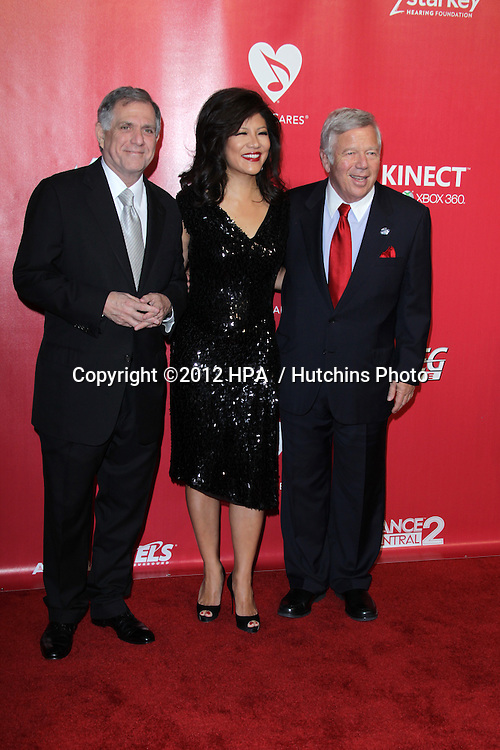 LOS ANGELES - FEB 10:  Les Moonves, Julie Chen, guest arrives at the 2012 MusiCares Gala honoring Paul McCartney at LA Convention Center on February 10, 2012 in Los Angeles, CA