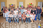 Dan O'Sullivan, Cromane Lower, pictured with his family and friends as he celebrated his 21st birthday in The Manor Inn, Killorglin on Friday night. ..............................................................