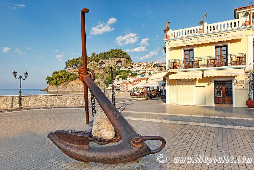 A giant anchor in Parga, Greece