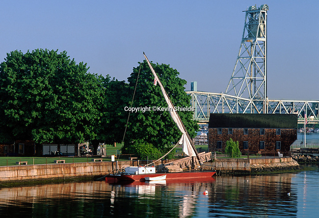 The Piscataqua River at Strawberry Banke, Portsmouth, New Hampshire, USA