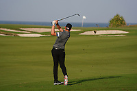 Joachim B. Hansen (DEN) on the 9th during Round 2 of the Oman Open 2020 at the Al Mouj Golf Club, Muscat, Oman . 28/02/2020<br /> Picture: Golffile | Thos Caffrey<br /> <br /> <br /> All photo usage must carry mandatory copyright credit (© Golffile | Thos Caffrey)