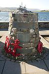The Shetland Bus memorial, Scalloway, Shetland Islands, Scotland