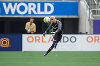 Orlando, FL - Sunday June 26, 2016: Ashlyn Harris  during a regular season National Women's Soccer League (NWSL) match between the Orlando Pride and the Portland Thorns FC at Camping World Stadium.