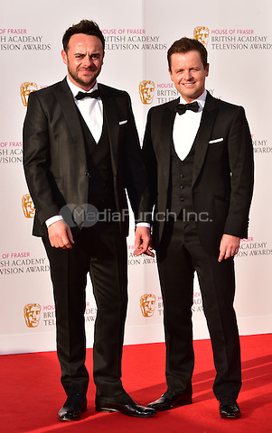 LONDON, ENGLAND - MAY 08: Anthony McPartlin, Declan Donnelly at he British Academy (BAFTA) Television Awards 2016, Royal Festival Hall, Belvedere Road, London, England, UK, on Sunday 08 May 2016.<br /> CAP/JOR<br /> &copy;JOR/Capital Pictures /MediaPunch ***NORTH AMERICA AND SOUTH AMERICA ONLY***