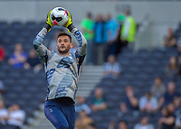 Hugo Lloris of Tottenham Hotspur warms up before during the Premier League match between Tottenham Hotspur and Crystal Palace at Wembley Stadium, London, England on 14 September 2019. Photo by Vince  Mignott / PRiME Media Images.