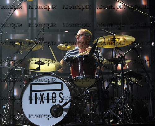PIXIES - drummer David Lovering - performing live on Day 25 of the iTunes Festival at The Roundhouse in London UK - 25 Sep 2013.  Photo credit: George Chin/IconicPix