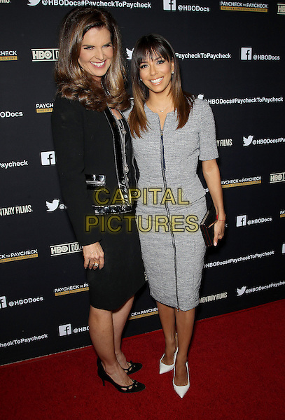 10 March 2014 - Los Angeles, California - Maria Shriver, Eva Longoria. &quot;Paycheck To Paycheck: The Life and Times of Katrina Gilbert&quot; presented by HBO Documentary Films and Maria Shriver held at the Linwood Dunn Theatre. <br /> CAP/ADM/FS<br /> &copy;Faye Sadou/AdMedia/Capital Pictures