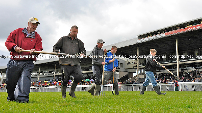 Scenes from around the track on Irish Derby Day on June 30, 2012 at the Curragh Racecourse in Newbridge, Kildare, Ireland.  (Bob Mayberger/Eclipse Sportswire)