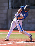 Wildcats' Tim Lichty hits against Salt Lake Community College during a game at Western Nevada College in Carson City, Nev., on Thursday, March 5, 2015. <br /> Photo by Cathleen Allison/Nevada Photo Source