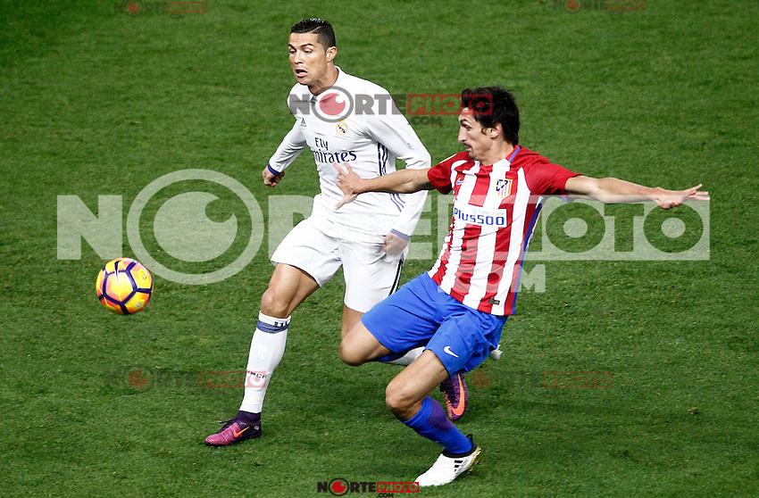 Atletico de Madrid's Stefan Savic (r) and Real Madrid's Cristiano Ronaldo during La Liga match. November 19,2016. (ALTERPHOTOS/Acero) /NORTEPHOTO.COM