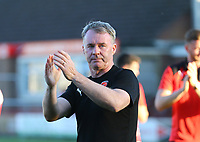 Fleetwood Town Manager John Sheridan applauds the fans<br /> <br /> Photographer Leila Coker/CameraSport<br /> <br /> The EFL Sky Bet League One - Fleetwood Town v Walsall - Saturday 5th May 2018 - Highbury Stadium - Fleetwood<br /> <br /> World Copyright &copy; 2018 CameraSport. All rights reserved. 43 Linden Ave. Countesthorpe. Leicester. England. LE8 5PG - Tel: +44 (0) 116 277 4147 - admin@camerasport.com - www.camerasport.com