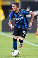 Cristiano Biraghi of FC Internazionale in action during the Serie A football match between FC Internazionale and SSC Napoli at San Siro stadium in Milano (Italy), July 28th, 2020. Play resumes behind closed doors following the outbreak of the coronavirus disease. Photo Marco Canoniero / Insidefoto