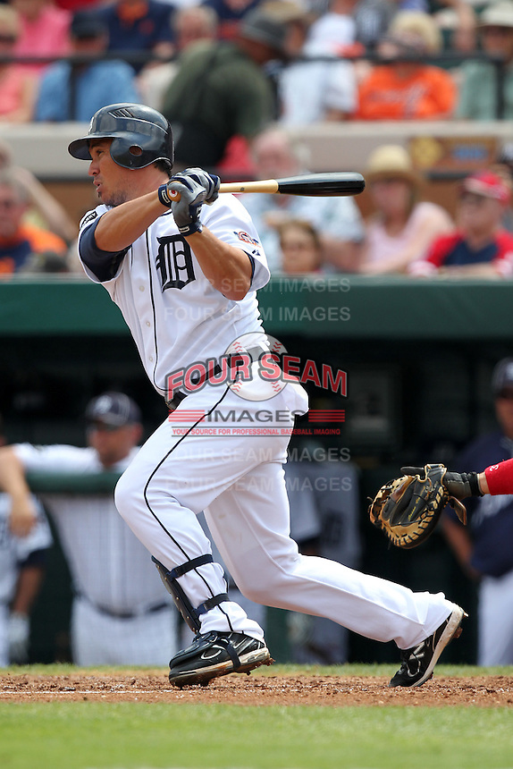 Detroit Tigers Magglio Ordonez #30 during a spring training game vs. the Boston Red Sox at Joker Marchant Stadium in Lakeland, Florida;  March 15, 2011.  Boston defeated Detroit 2-1.  Photo By Mike Janes/Four Seam Images