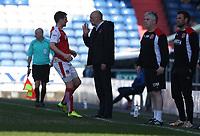 Fleetwood Town manager Uwe Rosler gives instructions to Bobby Grant<br /> <br /> Photographer Stephen White/CameraSport<br /> <br /> The EFL Sky Bet League One - Oldham Athletic v Fleetwood Town - Saturday 8th April 2017 - SportsDirect.com Park - Oldham<br /> <br /> World Copyright &copy; 2017 CameraSport. All rights reserved. 43 Linden Ave. Countesthorpe. Leicester. England. LE8 5PG - Tel: +44 (0) 116 277 4147 - admin@camerasport.com - www.camerasport.com