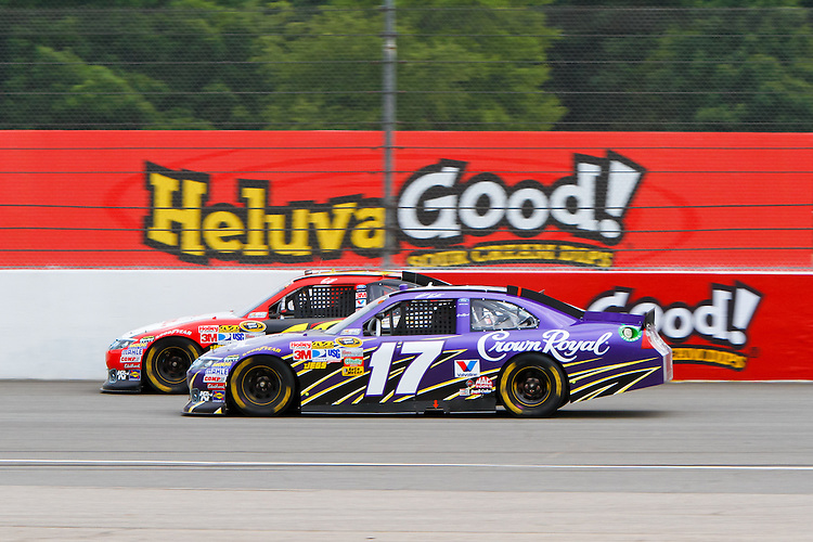 19 June, 2011: Greg Biffle attempts to hold off Matt Kenseth (17) during the 43rd Annual Heluva Good! Sour Cream Dips 400 at Michigan International Speedway in Brooklyn, Michigan.