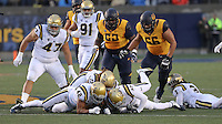 BERKELEY, CA - November 26, 2016: Cal Bears Football team vs. the UCLA Bruins at Memorial Stadium. Final score, Cal Bears 36, UCLA Bruins 10.