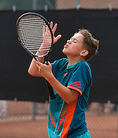 August 8, 2014, Netherlands, Rotterdam, TV Victoria, Tennis, National Junior Championships, NJK,  Stijn Poel (NED)<br /> Photo: Tennisimages/Henk Koster
