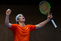 Alphen aan den Rijn, The Netherlands, 25 Januari 2019, ABNAMRO World Tennis Tournament, Supermatch, Final,  Ryan Nijboer  (NED) <br /> <br /> Photo: www.tennisimages.com/Henk Koster