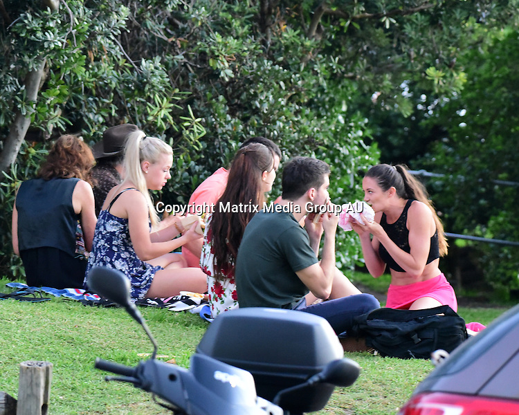25 February, 2016 <br /> SYDNEY, AUSTRALIA<br /> <br /> EXCLUSIVE PICTURES<br /> Robert and Lynzey Murphy MKR chefs, with Roberts wife and their kids celebrate Lynzeys birthday at North Bondi Beach.<br /> <br /> *ALL WEB USE MUST BE CLEARED*<br /> <br /> Please contact prior to use:  <br /> <br /> +61 2 9211-1088 or email images@matrixmediagroup.com.au <br /> <br /> Note: All editorial images subject to the following: For editorial use only. Additional clearance required for commercial, wireless, internet or promotional use.Images may not be altered or modified. Matrix Media Group makes no representations or warranties regarding names, trademarks or logos appearing in the images.