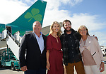 John Burke with wife Aoibhin and father-in-law Eugene Garrihy and mother-in-law Clare Garrihy on his arrival back to Shannon Airport, following his successful attempt, being the first Clare person ever to climb Mount Everest. Photograph by John Kelly.