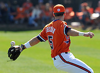 Clemson's Mike Freeman misses a popup during the opening game of the 2008 season between the Mercer Bears and Clemson Tigers at Doug Kingsmore Stadium in Clemson, S.C. Photo by:  Tom Priddy/Four Seam Images