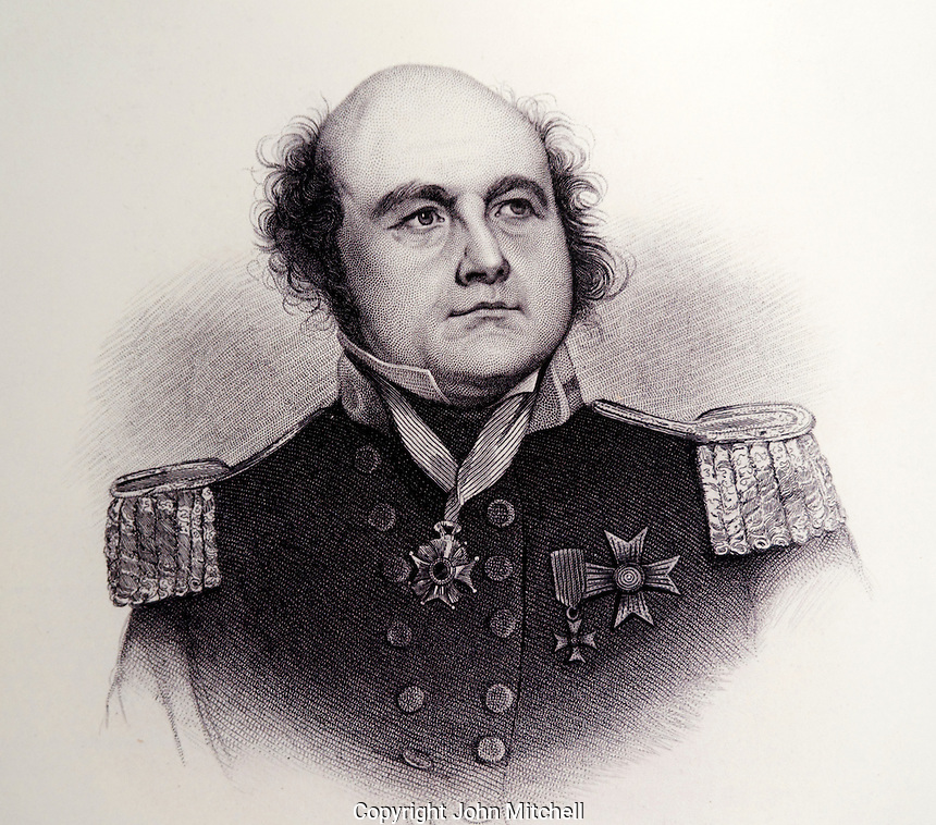 Portrait of British naval officer and explorer Sir John Franklin (186-1847), Vancouver Maritime Museum, Vancouver, BC, Canada