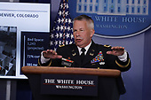 Lieutenant General Todd Semonite, chief of engineers and commanding general of the U.S. Army Corps of Engineers, speaks during a news conference at the White House in Washington D.C., U.S. on Monday, April 20, 2020. <br /> Credit: Tasos Katopodis / Pool via CNP