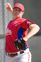 Brummett, Tyson 7670.jpg. Philadelphia Phillies Spring Training Camp. March 21st, 2009 in Clearwater, Florida. Photo by Andrew Woolley.