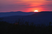 Franconia Notch State Park - Sunset from along the Franconia Notch Bike Path near the old U.S. Route 3 bridge in the White Mountains, New Hampshire USA