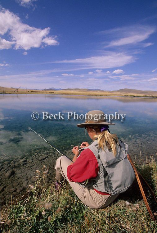Fly fishing on the Tash Ranch in Montana