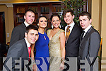 Pictured at the Castlegregory Debs on Friday night, from left: