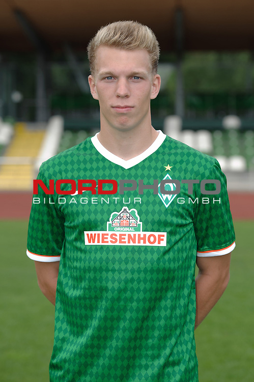 19.07.2013, Platz 11, Bremen, GER, RLN, Mannschaftsfoto Werder Bremen II, im Bild Janek Sternberg (Bremen #3)<br /> <br /> Foto &copy; nph / Frisch