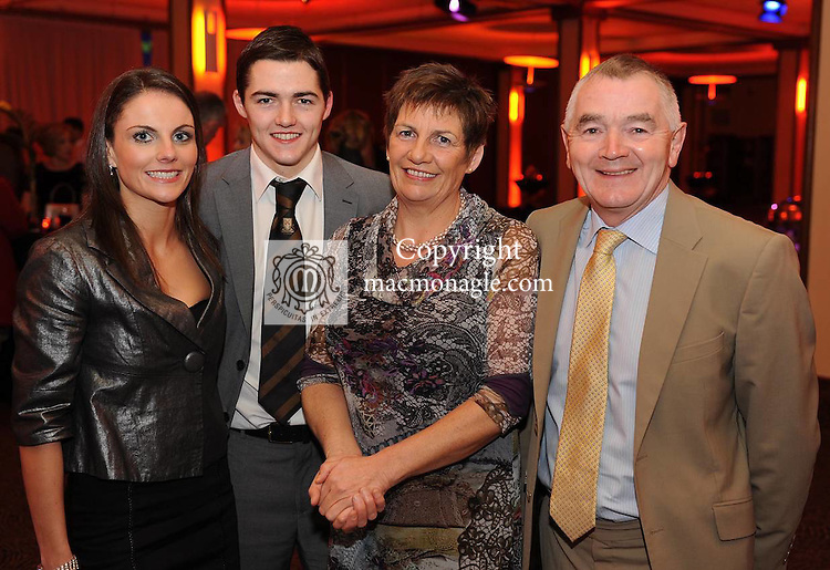 Gina Crowley, Brian Looney, Anne and Tom Looney at  the Dr Crokes GAA Club Victory Celebration Night at the Inec, Killarney on Friday night. Picture: Eamonn Keogh (MacMonagle, Killarney)