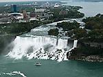 The Maid of the Mist passes American Falls at Niagara Falls in Niagara Falls, Canada.