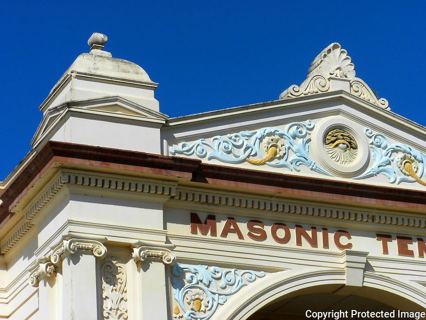 Detail, Masonic Temple, Rockhampton, Queensland