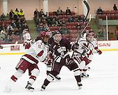 Tyler Moy (Harvard - 2), Sebastian Weberg (Colgate - 16), Seb Lloyd (Harvard - 15) -  - The Harvard University Crimson defeated the visiting Colgate University Raiders 7-4 (EN) on Saturday, February 20, 2016, at Bright-Landry Hockey Center in Boston, Massachusetts.