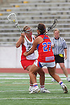 Redondo Beach, CA 05/14/11 - Brittany Ross (Redondo Union #29) and Keaton Otake (Los Alamitos #27)in action during the 2011 US Lacrosse / CIF Southern Section Division 1 Girls Varsity Lacrosse Championship, Los Alamitos defeated Redondo Union 17-5.