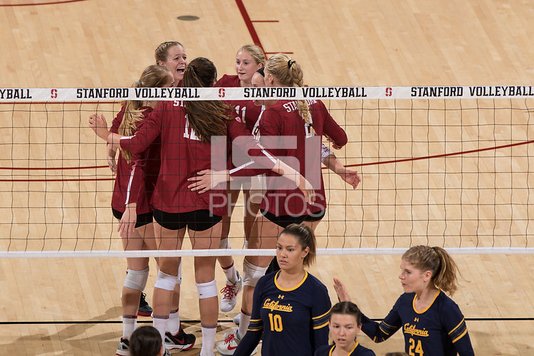 Stanford, CA - September 20, 2017: Stanford beats Cal 3-0 at Maples Pavilion.