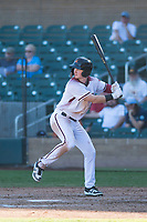 Salt River Rafters first baseman Pavin Smith (44), of the Arizona Diamondbacks organization, at bat during an Arizona Fall League game against the Surprise Saguaros at Salt River Fields at Talking Stick on November 5, 2018 in Scottsdale, Arizona. Salt River defeated Surprise 4-3 . (Zachary Lucy/Four Seam Images)
