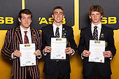 Boys distance running finalists Ben Moynihan, Declan Wilson and Cameron Burstalll. ASB College Sport Young Sportsperson of the Year Awards held at Eden Park, Auckland, on November 24th 2011.