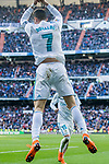 Cristiano Ronaldo of Real Madrid celebrates during the La Liga 2017-18 match between Real Madrid and Deportivo Alaves at Santiago Bernabeu Stadium on February 24 2018 in Madrid, Spain. Photo by Diego Souto / Power Sport Images