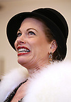 Marin Mazzie performing during the sneak peek rehearsal performance of 'Bullets Over Broadway'  on February 13, 2014 at the New 42nd Street Studios in New York City.