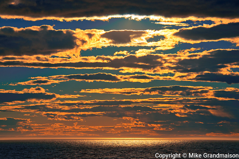 CLouds at sunset on the Gulf of St. Lawrence. Gaspe Peninsula. <br />